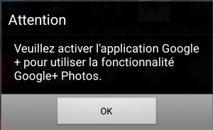"L'application ""photos"" et Google+ ..."